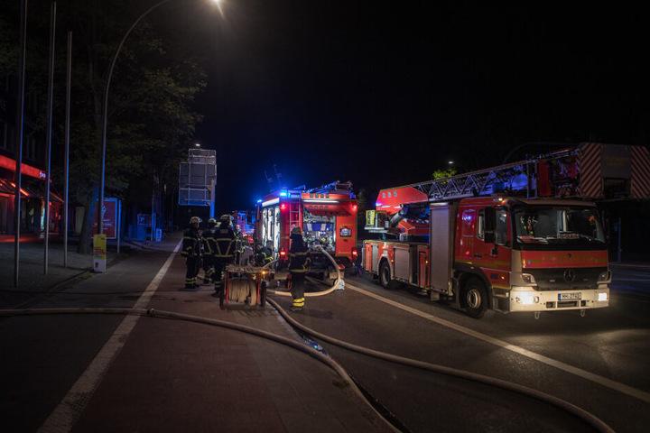 Die Feuerwehr war mit einem Großaufgebot angerückt.