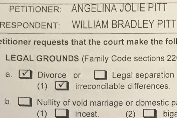 Der Scheidungsantrag des Ex-Hollywood-Traumpaars.