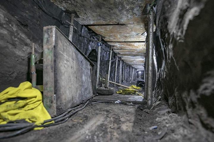 600 Meter soll der Tunnel etwa lang gewesen sein.