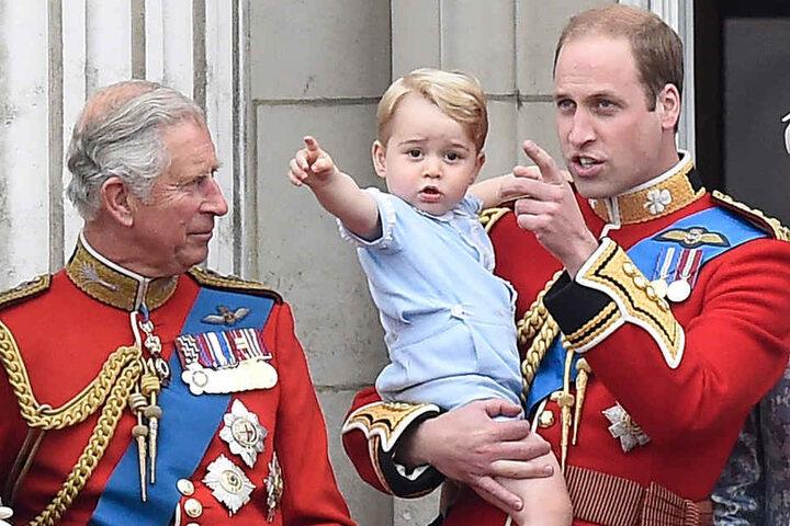 Sie sollen die nächsten drei Könige werden: Charles (68), William (34) und  George (3).