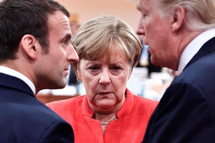 Mächtige machtlos. Angela Merkel konnte die Proteste nur verurteilen.