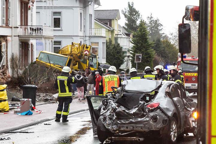 Die Königstein Straße wurde komplett gesperrt.