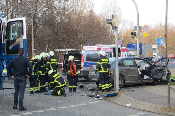 Rettungskräfte hatten am Nachmittag allerhand zu tun.