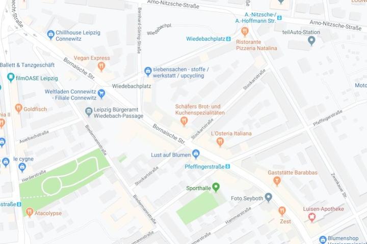 Der Vorfall ereignete sich an der Bornaischen Straße im Stadtteil Connewitz.