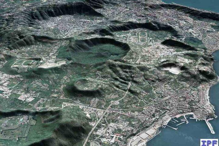 Das undatierte Handout zeigt einen Blick auf die Phlegräischen Felder bei Neapel.