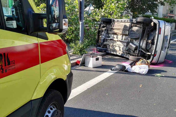Die 72-Jährige Fahrerin verletzte sich bei dem Crash.