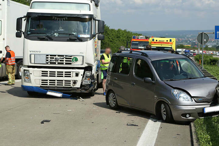 Der Toyota-Fahrer wurde verletzt.