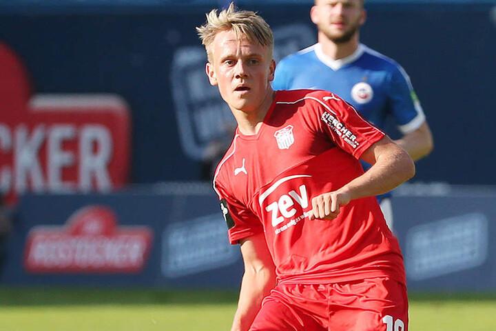 Gegen den FC Hansa Rostock stand Geisler für den FSV auf dem Feld.