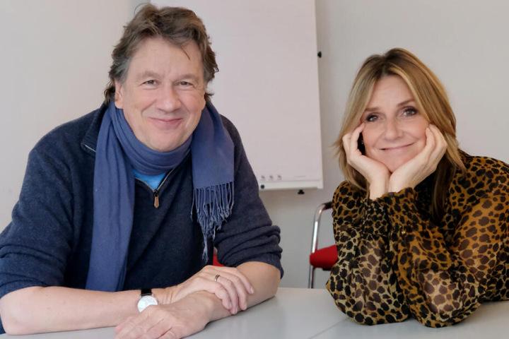 """Jörg Kachelmann (60) und Kim Fisher (49) moderieren gemeinsam die MDR-Show """"Riverboat""""."""