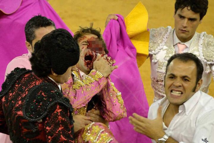 Torero-Legende Juan José Padilla verlor 2011 in Saragossa bei einem Auftritt sein linkes Auge.