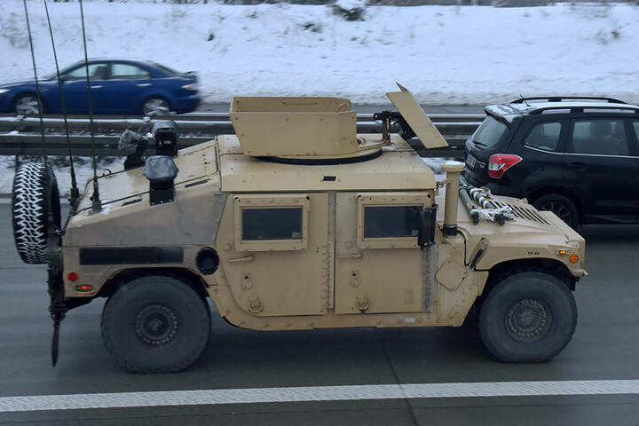 Die Militärtransporte sollen noch bis Ende Januar andauern.