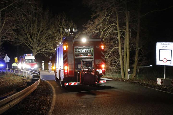 Horror-Unfall auf der Chemnitztalstraße: Die 41-jährige Beifahrerin starb.