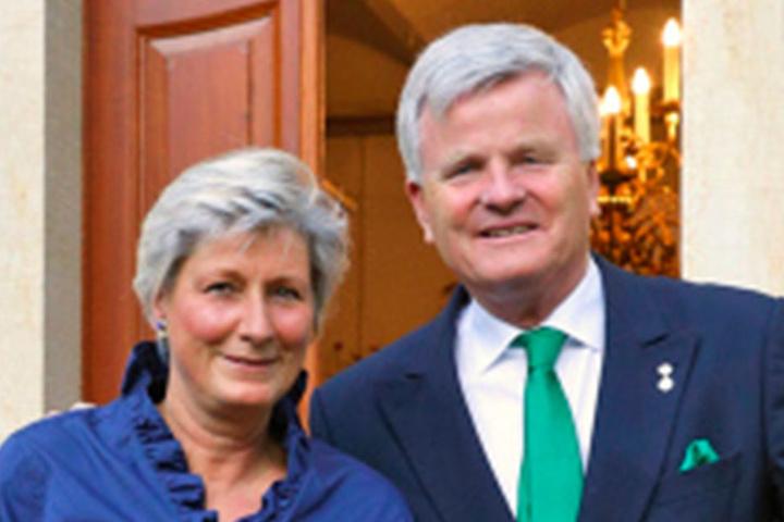 Die Gastgeber: Prinzessin Alexandra und Prinz Georg zur Lippe.