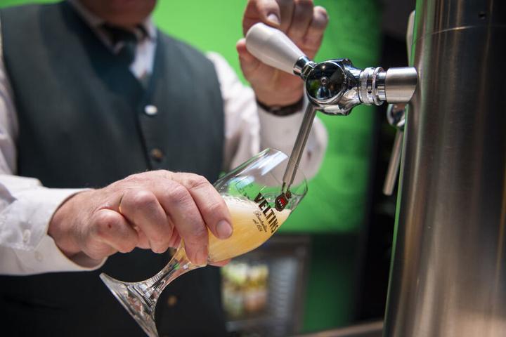 Ein frisch gezapftes Bierchen.