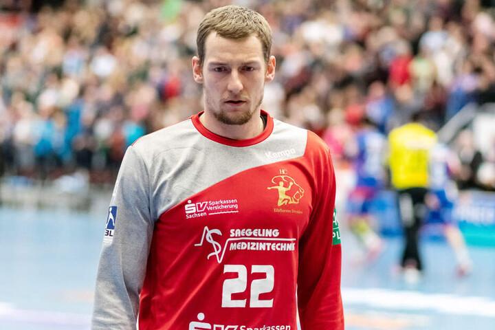 Elbflorenz-Keeper Mario Huhnstock verhinderte mit mehreren tollen Paraden in der 2. Halbzeit eine noch höhere Niederlage.