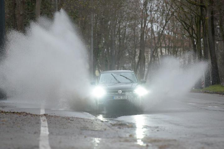 In Augsburg hat es in den vergangen Tagen bereits kräftig geregnet.