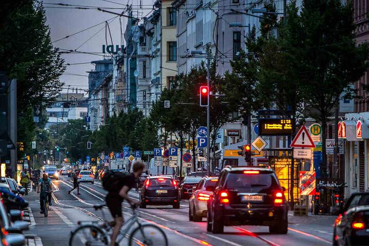 Erneut rückte die Polizei in die Leipziger Eisenbahnstraße aus. (Symbolbild)