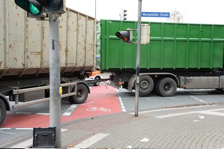 Diese Ampelkreuzung wollte der Rollstuhlfahrer überqueren.