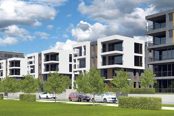 So sollen die neuen Häuser an der Sternstraße einmal aussehen.