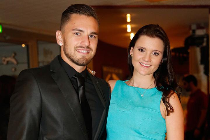 Pascal Testroet kam mit seiner Frau Michelle.