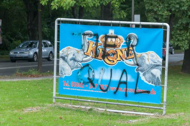 Über 50 Werbeplakate wurden in Zwickau abgerissen oder beschmiert.