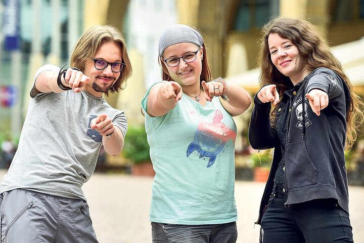 """Norman Manek, Anjana Lueder und Christina Gaudlitz sind Teil des """"Rock in  deine Zukunft""""-Teams."""