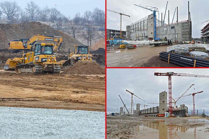 Die Vorbereitungen des Baufelds (14 Fußballfelder) begannen im Februar 2018. Seitdem wächst das Milliardenwerk rasant.