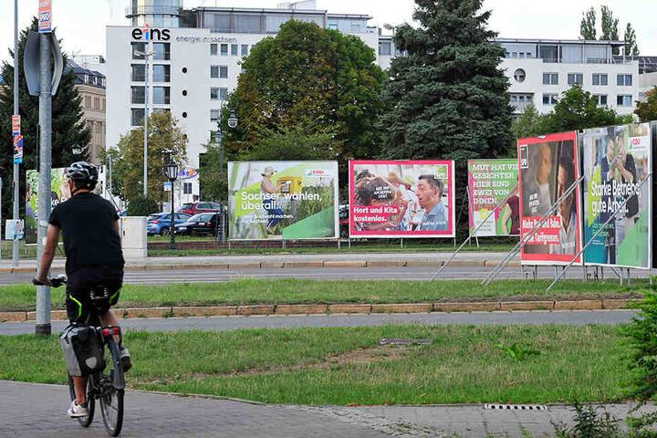 Wahlkampf in Chemnitz.