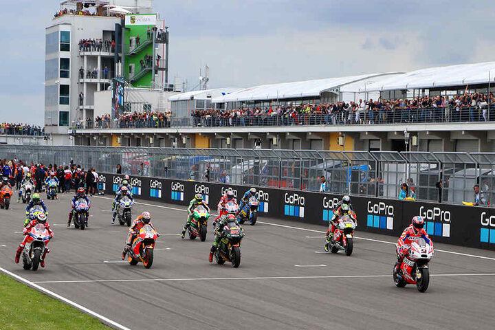 Am kommenden Wochenende könnte der letzte MotoGP auf dem Sachsenring stattfinden. (Archivbild)