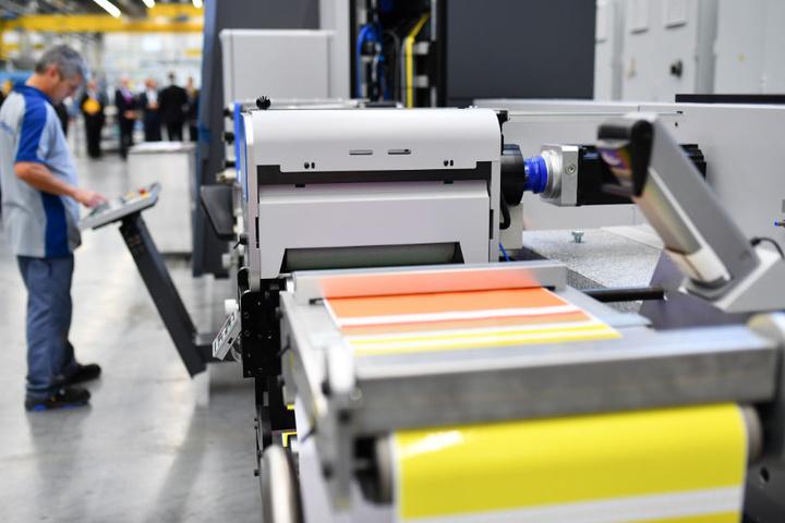 Die Aktie des Druckmaschinenbauers legte am Donnerstagmorgen um sechs Prozent zu.