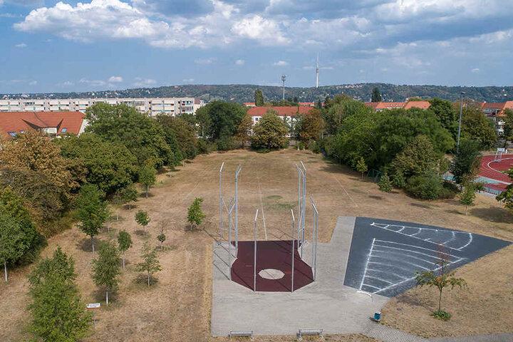 Auf dieser Fläche soll das zukünftige Gymnasium an der Margon-Arena entstehen.