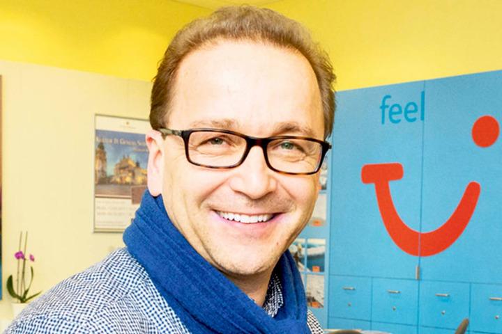 "Thomas Oczadly (50), Vorsitzender des Vereins ""Dresdner Reisebüros""."