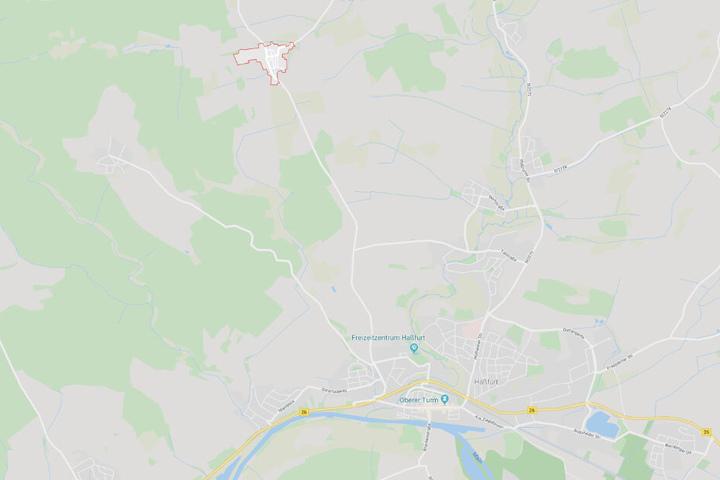 Ausnahmezustand im Haßfurter Stadtteil Uchenhofen (rot markiert).