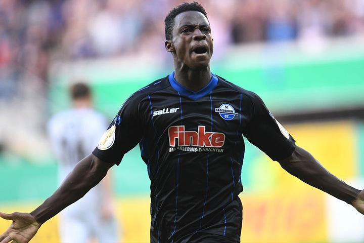 Mit dem 2:0 sorgte er für eine kleine Vorentscheidung: Christopher Antwi-Adjej.