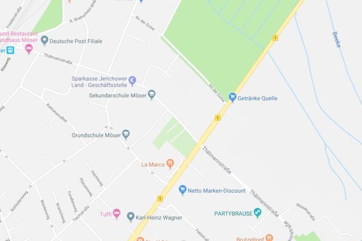 Vor der Sekundarschule an der Thälmannstraße wurde eine Elfjährige von einem Auto angefahren.