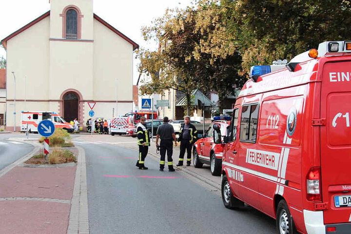 Das Foto zeigt die Kirche, an welcher das Motorrad zerschellte.