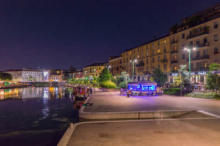 """Die Vergewaltigung soll in einem Park nahe der Wasserstraßen namens """"Naviglio Grande"""" in Mailand passiert sein."""