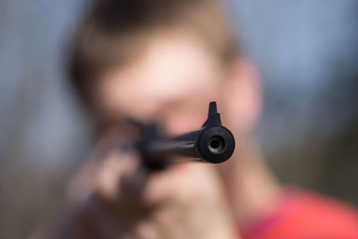 Wahrscheinlich benutzte der Täter eine Druckluftwaffe. (Symbolbild)