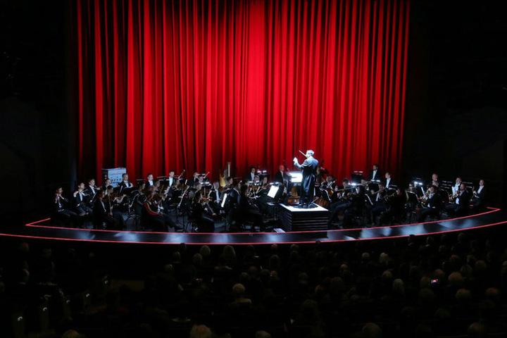 Das Orchester gab eine Kostprobe seines Könnens.