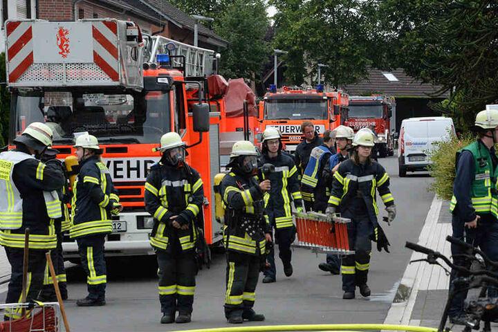 Viele Einsatzkräfte waren vor Ort.