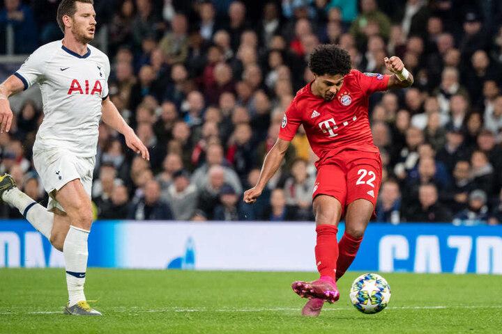 Serge Gnabry, beim FC Bayern aktuell in bestechender Form. Auch hier gegen die Tottenham Hotspurs beim 7:2-Triumph im Wohnzimmer der Nordlondoner vor wenigen Wochen.