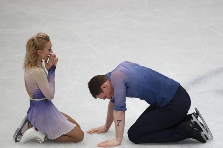 Nach Olympia-Gold holten das Paar bei der WM auch noch den Titel und toppte die Leistung von Pyeongchang sogar.