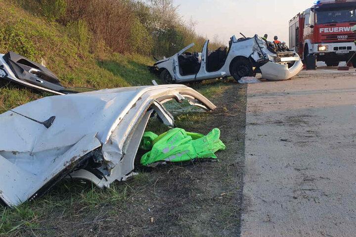 An dem Unfall waren insgesamt zwei Autos beteiligt.