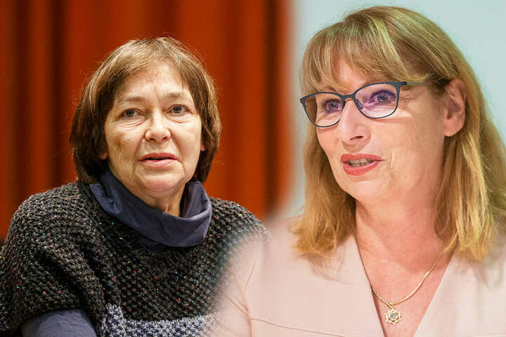 Johanna Stoll (links) gehörte der Kommission bis 2010 an. Auch Gleichstellungsministerin Petra Köpping (re.) würde es begrüßen, wenn es in der Kommission Frauen als Vollmitglieder geben würde.