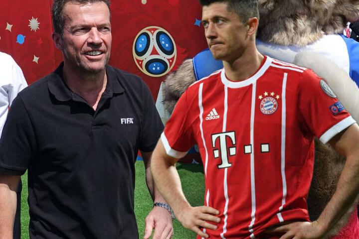 Lothar Matthäus (l.) nimmt FC Bayern Münchens Robert Lewandowski (r.) in die Pflicht.