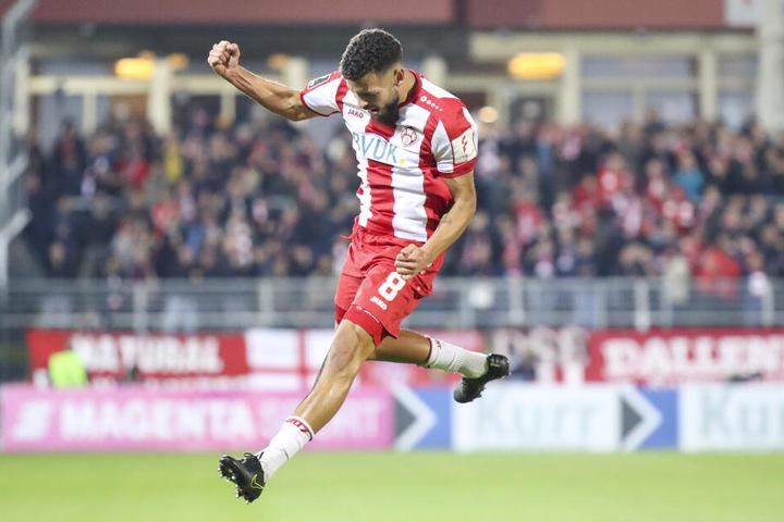 Dave Gnaase erzielte in der 23. Minute das 1:0 für Würzburg.