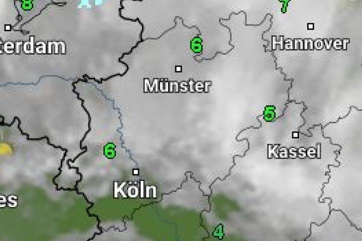 Der Deutsche Wetterdienst kündigt milde Temperaturen und Schneeregen an.