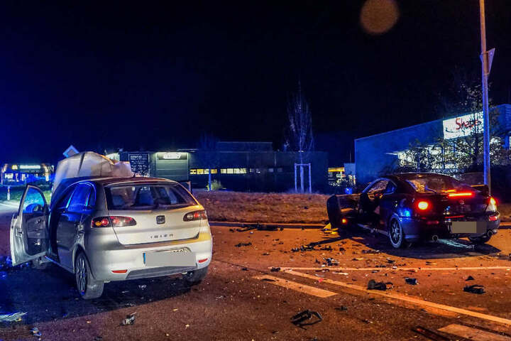Der Fahrer des Seat (links) hatte den Hyundai übersehen.