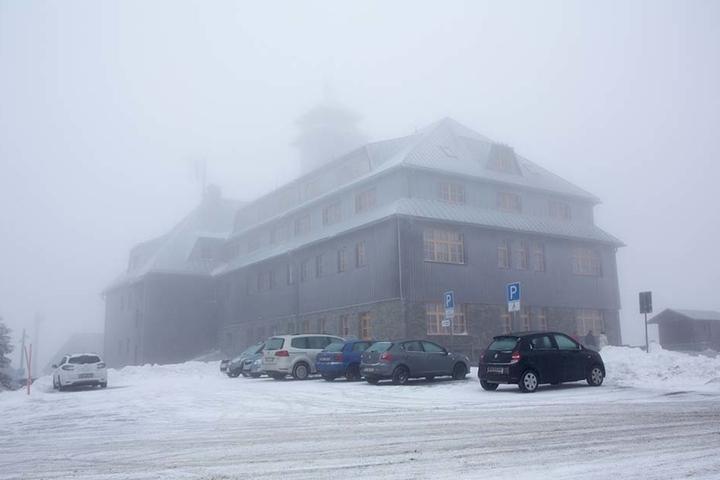Am Samstagmorgen gab es hier einen echten Schneesturm
