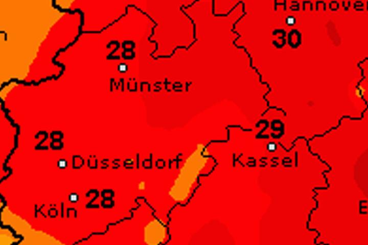 Am Dienstag kommt der Sommer für einen Tag zurück. Es soll richtig heiß und später auch schwül und regnerisch werden.